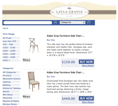 Layla Grayce products on ShopTab.