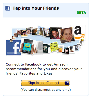 Screenshot of Facebook ad on Amazon.