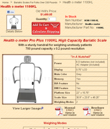 Sample product page.