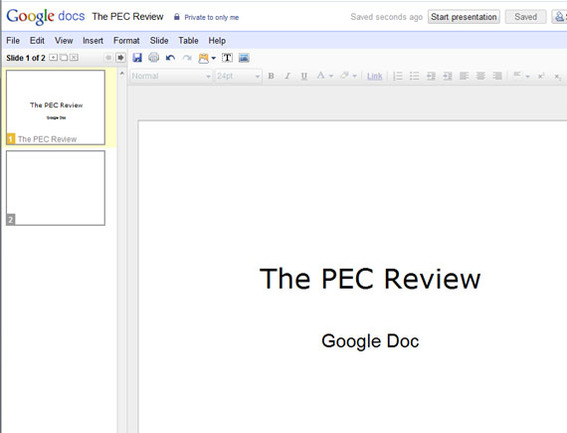 Google Docs even provides a basic presentation solution.