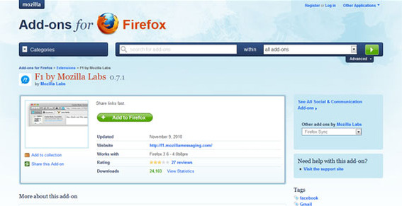 F1 is as simple to install as any other Firefox add-on.