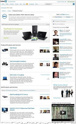 Dell's Company Page, for LinkedIn users.