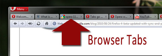 Opera was the first web browser to used tabs.