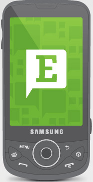 Android OS phone running Evernote.