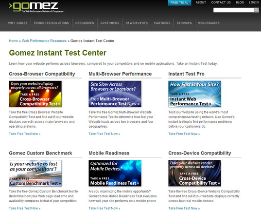 Gomez.com Test Center.