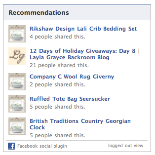 Recommendations are another way to integrate Facebook into your site.