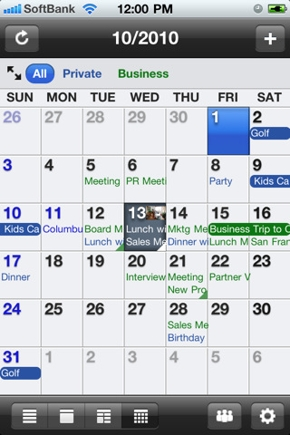 SnapCal Twitter calendar app for iPhone, Android.