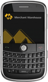 BlackBerry running MerchantWARE.
