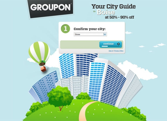 Groupon has become the leading deal site in the United States.