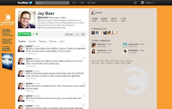 Example 2: Twitter background for consultant Jay Baer.