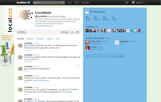 Example 3: Twitter background for Localeze.