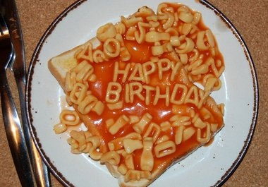 Fiverr user Madmoo writes in alphabetti spaghetti on toast.