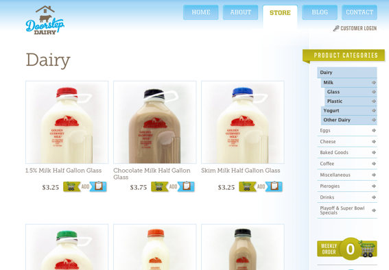Milk and other dairy products can be delivered on schedule with a subscription from Doorstep Dairy.