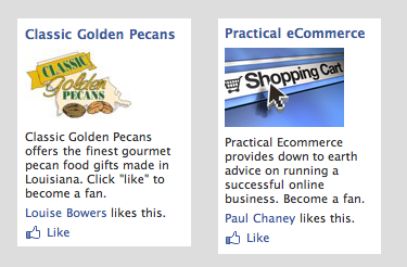 Examples of Facebook ads.
