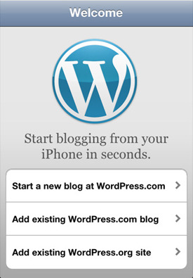 WordPress app.