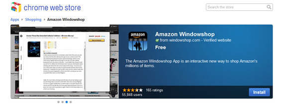 Amazon's Chrome App, called Windowshop, is said to be an alternative way to shop online.