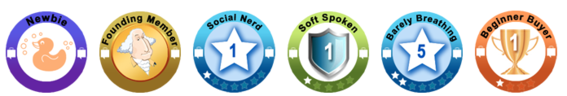 Users of ShopSocial.ly earn badges for sharing purchases.