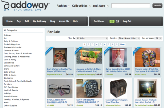 Addoway is an online marketplace for buying and selling.