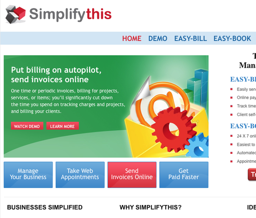 Simplifythis home page.
