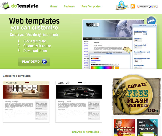 DoTemplate home page.