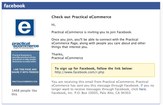 Facebook will email contacts that are not already members.