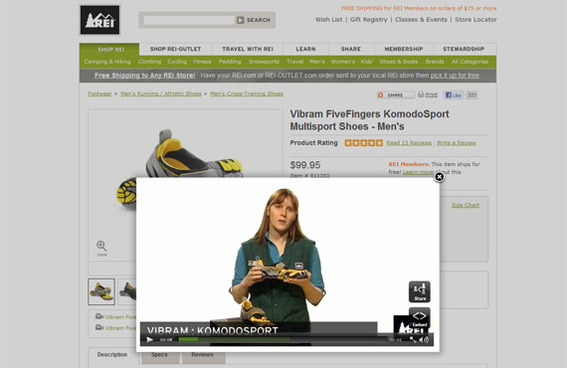REI provides complete product information, reviews, and videos for many of its products.