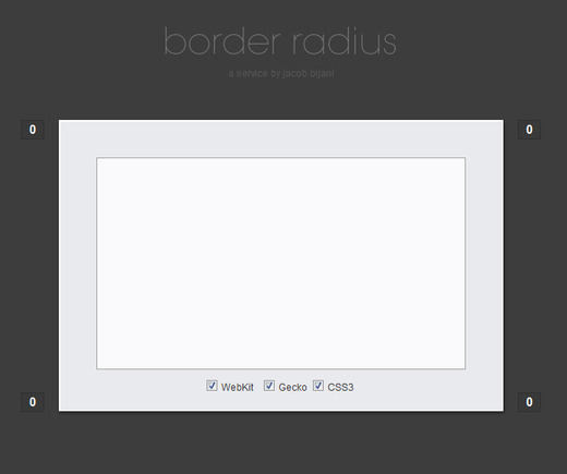 5 css generating tools to help with small code tasks for Table th border radius