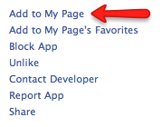 "Click ""Add to My Page"" to add Static HTML iframe app."