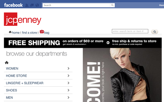 J. C. Penney store, on Facebook.