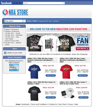 NBA Store on Facebook.