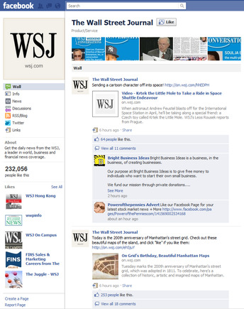 Wall Street Journal on Facebook.