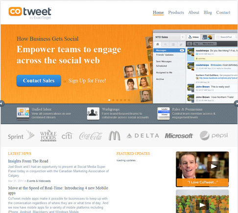 CoTweet home page.