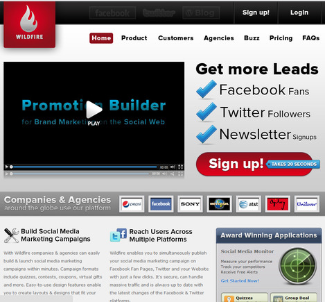 WildFire home page.