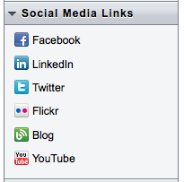 Constant Contact makes it easy to add social media links to emails.