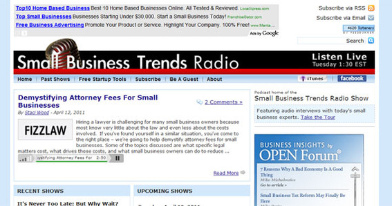 Small Business Trends Radio.
