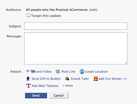 Send emails using the Facebook Page message component.
