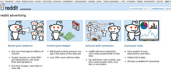 Reddit has a comprehensive advertising option.