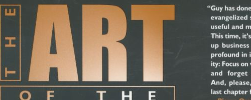 The Art of the Start by Guy Kawasaki.