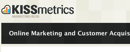 KISSmetrics Marketing Blog.