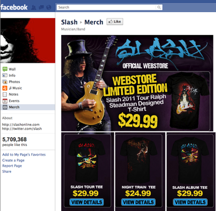 Slash Facebook store.