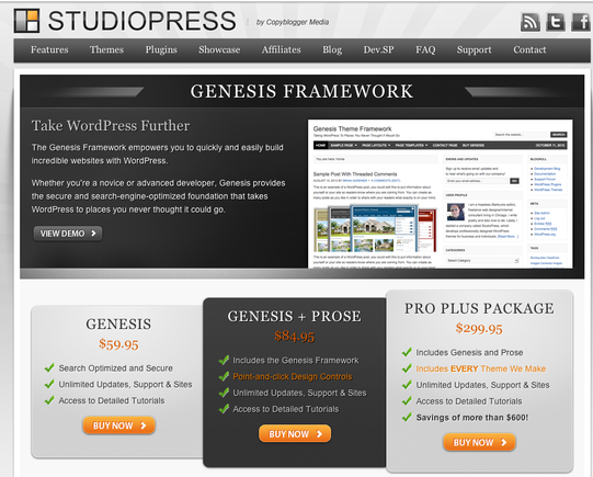Genesis blog theme, for WordPress.