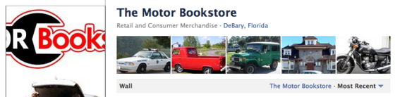 The Motor Bookstore features images sent by fans.