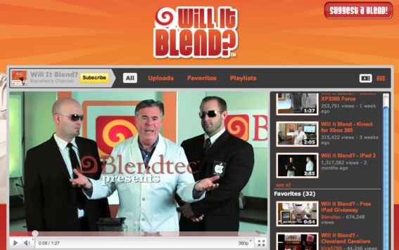Blendtec's videos drive its marketing efforts.
