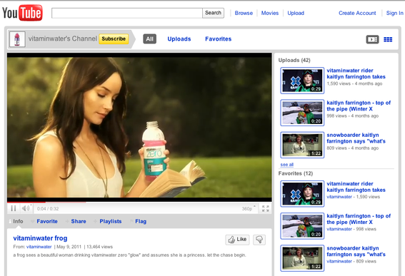 VitaminWater's videos are offbeat and entertaining.