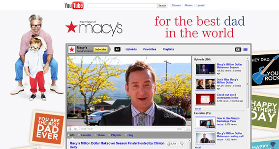 Macy's used YouTube video as part of a national campaign and contest.