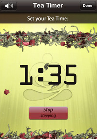 Teavana Perfect Tea Touch screenshot.