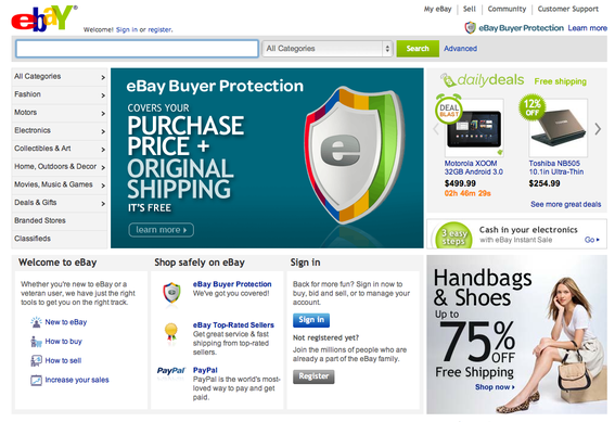 eBay is the world's largest online marketplace.