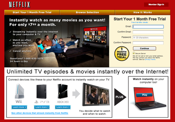 Netflix is an internet subscription service for movies and TV shows.