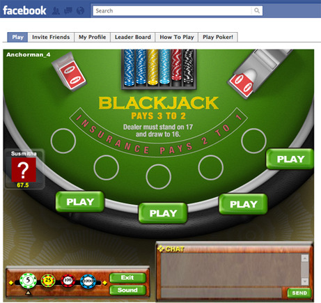 Blackjack on Facebook.