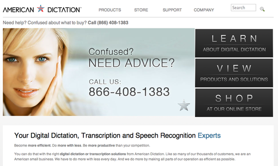 American Dictation succeeds by offering expert advise to consumers.
